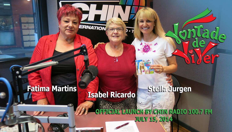 Fatima Martins, Isabel Ricardo and Stella Jurgen Jul15, 2014