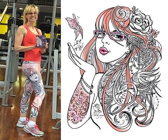wearables, fashion design, art on clothing, art on leggings