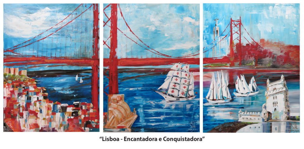 Reflections-Stella Jurgen-Oil on Canvas 24x18-2017-Lisboa