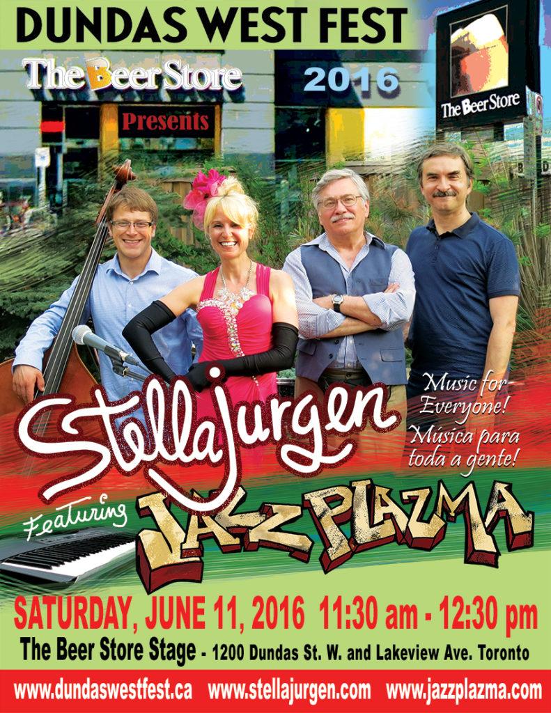 Stella-Jurgen-Jazz-Plazma-Dundas-West-Fest-2016-poster-web