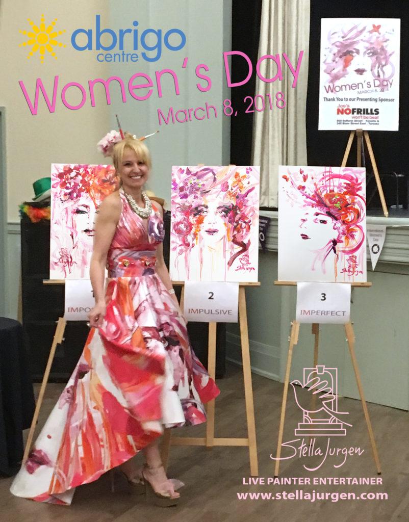 Stella Jurgen-Live Painter Entertainer-Womens Day 2018-Abrigo