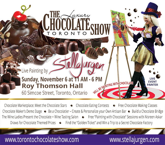 Stella-Jurgen-Toronto-Luxury-Chocolate-Show-2016-events-live-painter