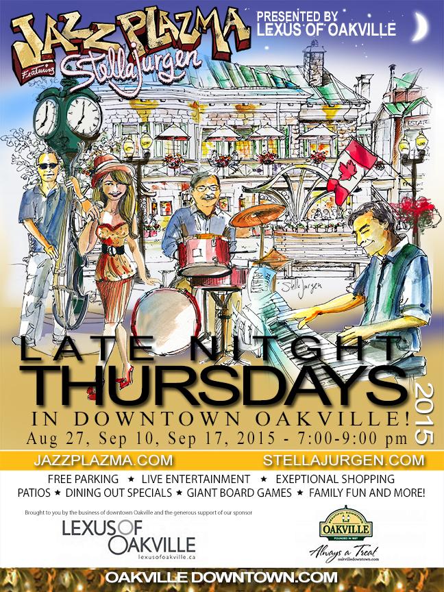 Jazz Plazma, Stella Jurgen, jazz quartet, Downtown Oakville