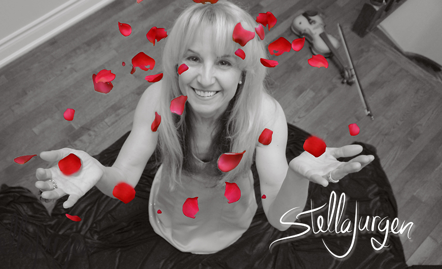 Stella Jurgen, A Dozen Kisses, rose petals, black and white