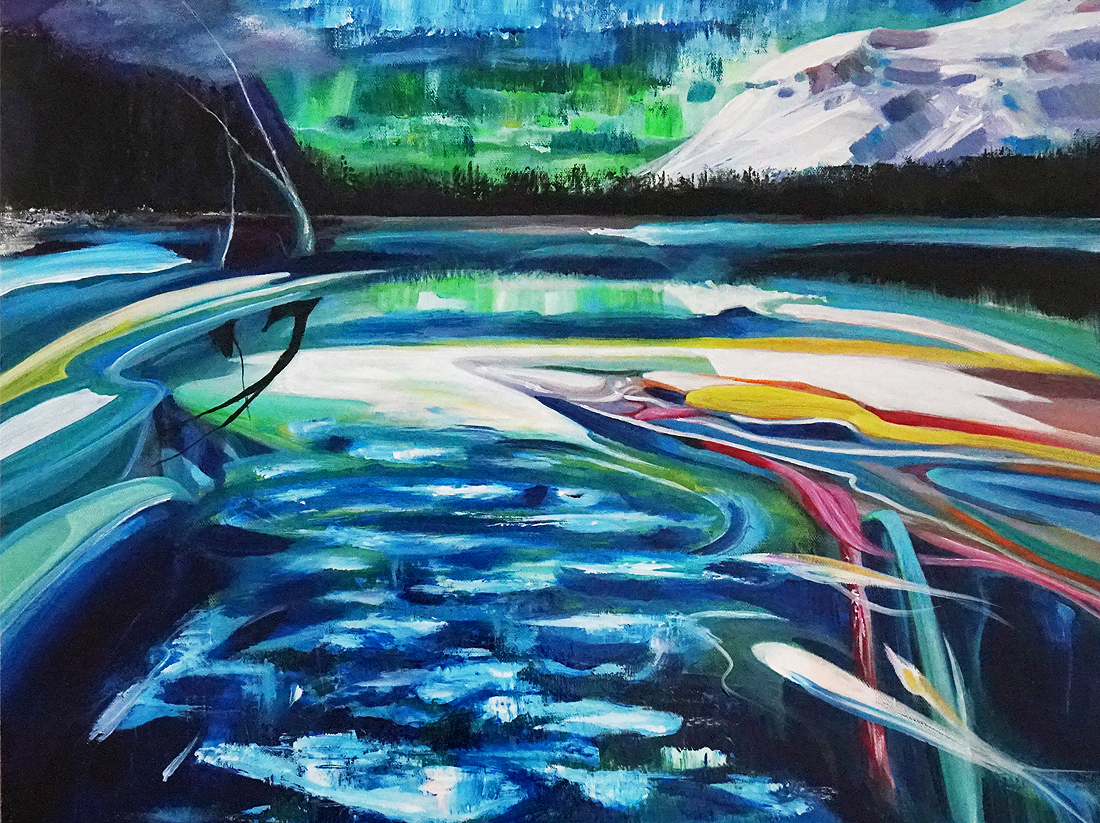 Stella Jurgen, East of the Sun, Emerald Lake, British Columbia art, landscape art, Canadian art, fine art