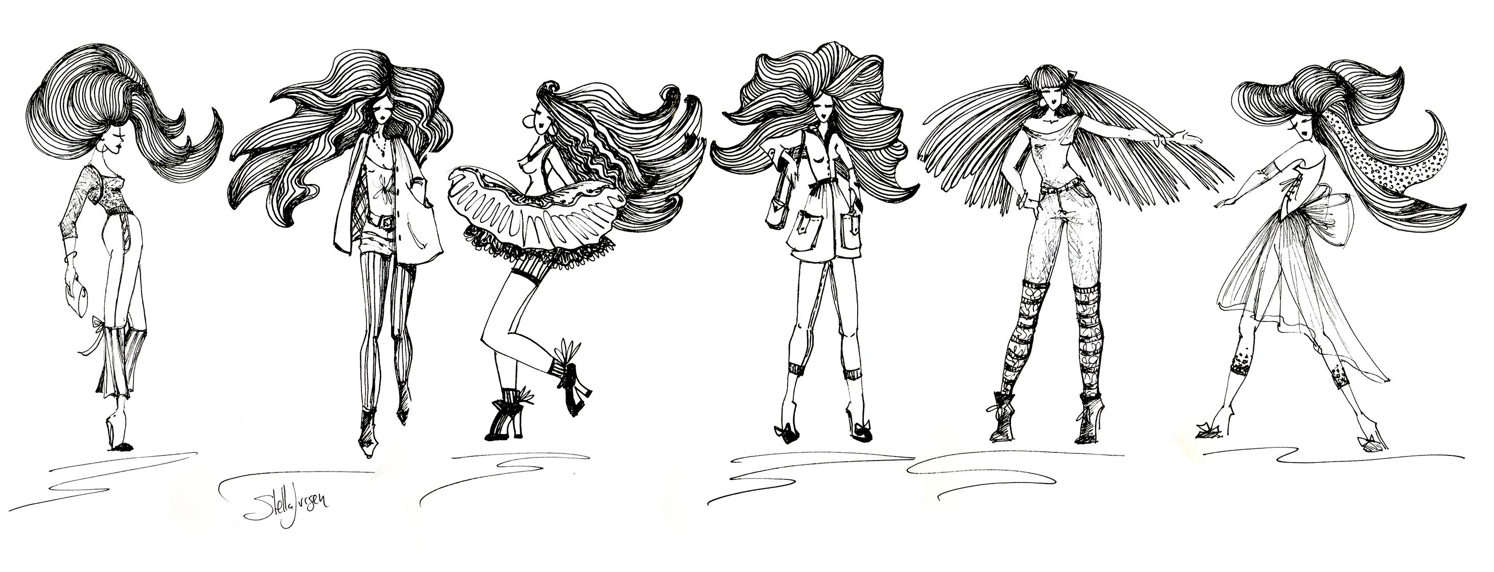 Stella Jurgen Fashion sketches 2 medium