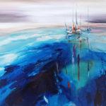 Sailing, leisure sailing, sail boats painting