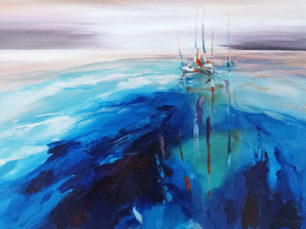 Sailing, leisure sailing, sail boats painting
