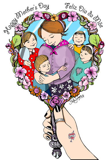 Happy Mother's Day, illustration