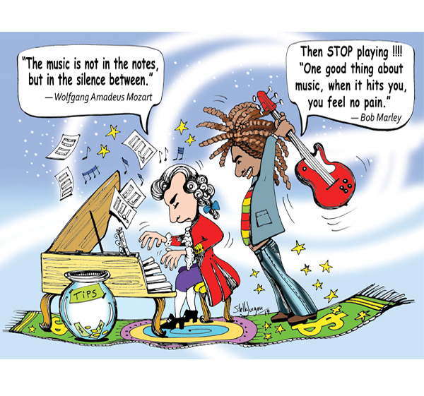 Music Illusion cartoon, illustration