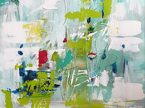 The great outdoors, fishing abstract painting