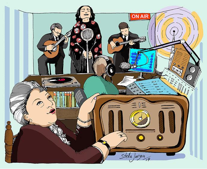 The evolution of Radio - Illustration