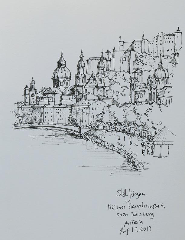 sketch Salzburg Austria