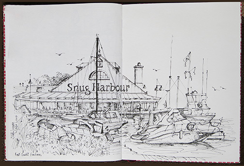Mississauga Urban Sketch Restaurant Port Credit