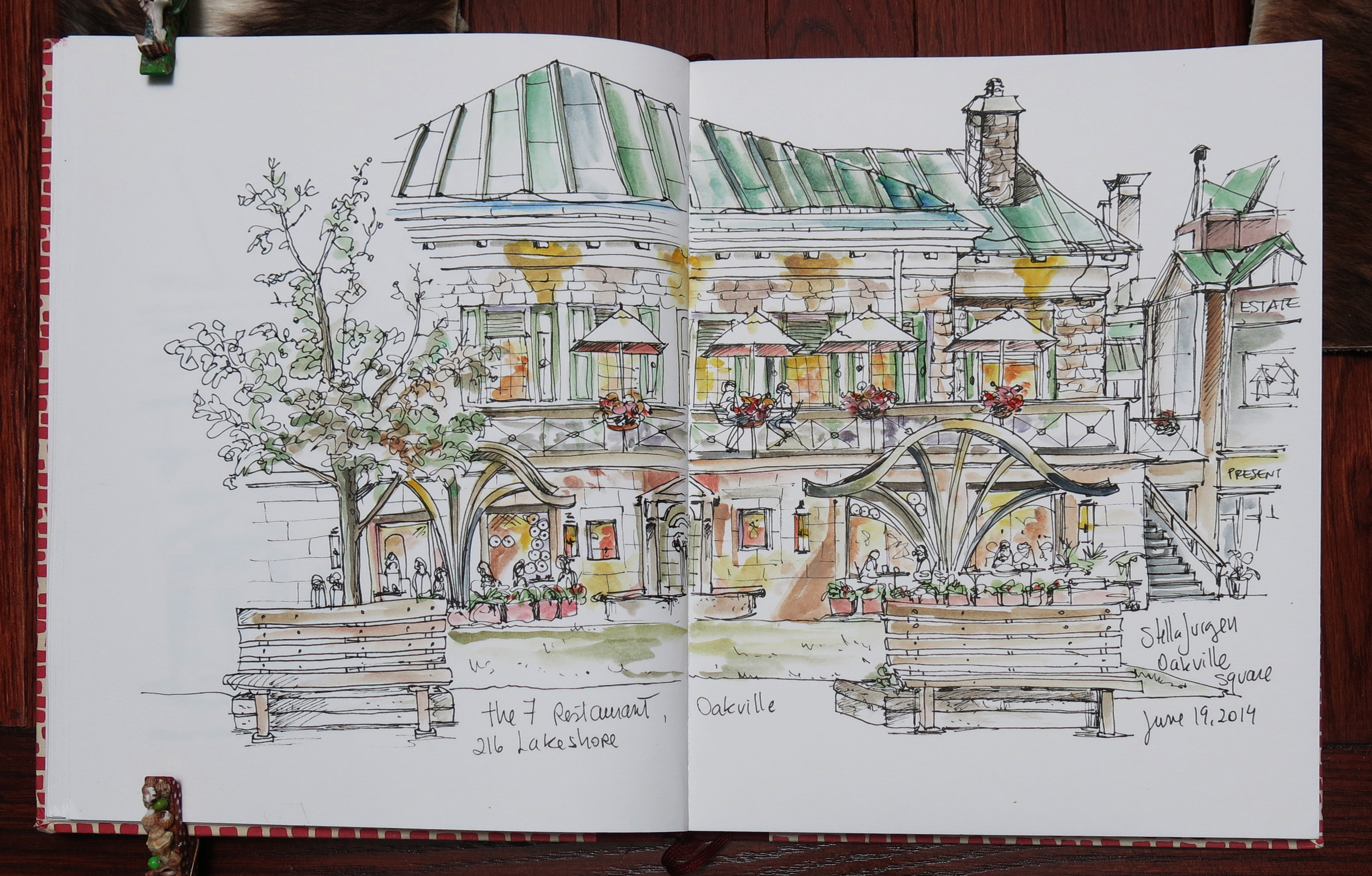 sketch The 7 Restaurant, Downtown Oakville