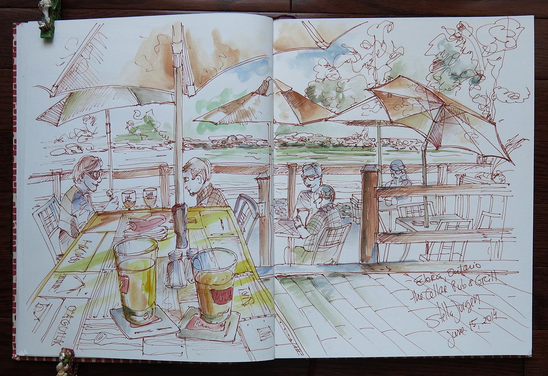 sketch of The Cellar Pub & Grill, Elora