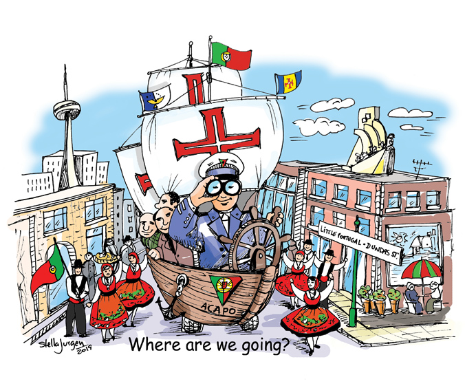 Stella Jurgen cartoons, Where are we going, this ship, cartoons