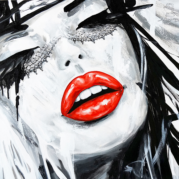 Red Lips painting