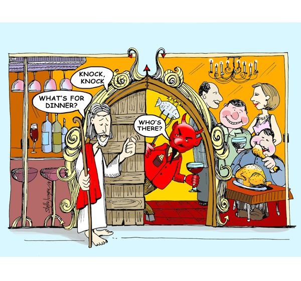 Easter Cartoon Humour Illustration