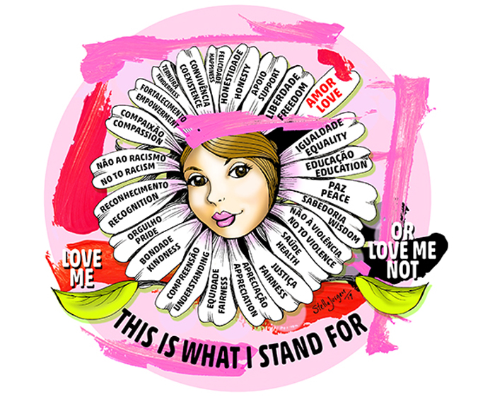 Stella Jurgen cartoons, Women's Day, This is what I stand for, Love Me, Love Me Not