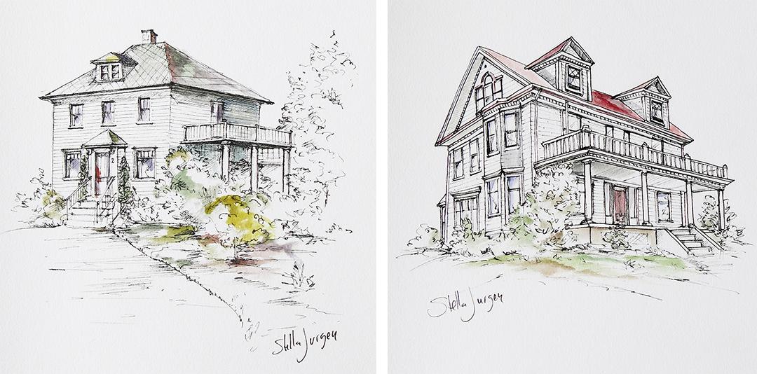 urban sketches, Nova Scotia