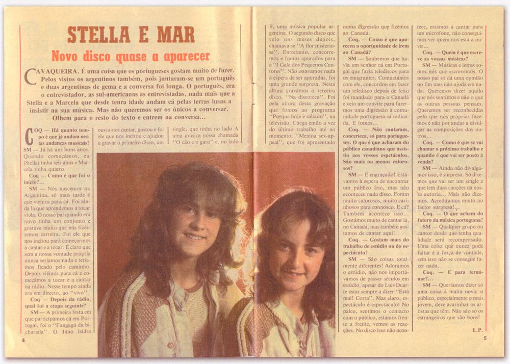 Stella E Marcela Entrevista